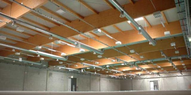 struttura in legno industriale