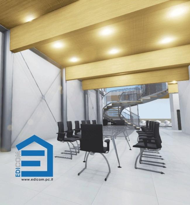 Render palazzina uffici edicom