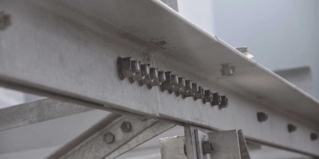 particolare struttura in acciaio