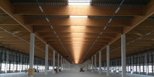 capriate in legno industriale